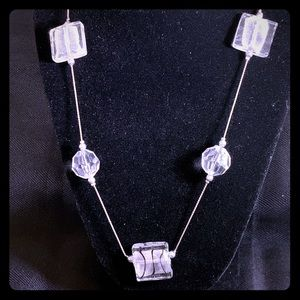 Glass and Silver necklace, beautiful!